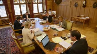 Der Regierungsrat hält seine Sitzungen weiterhin unter Ausschluss der Öffentlichkeit ab. (Archivbild)