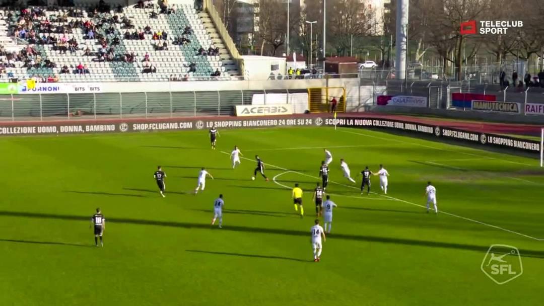 Super League, Saison 2018/19, Runde 24, FC Lugano - FC Basel. 1:1 Jonathan Sabbatini