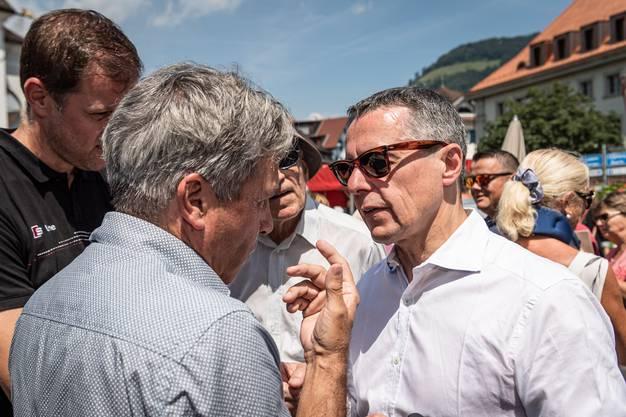 Stellte sich gestern der Kritik der Nidwaldner Bevölkerung: Aussenminister Ignazio Cassis.