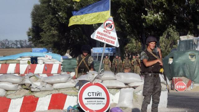 Ukrainische Soldaten in Mariupol