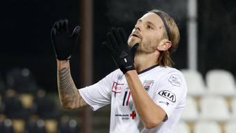 Zum Verzweifeln: Olivier Jäckle verschoss beim 0:1 gegen GC einen Penalty, symptomatisch für die Aarauer Ineffizienz