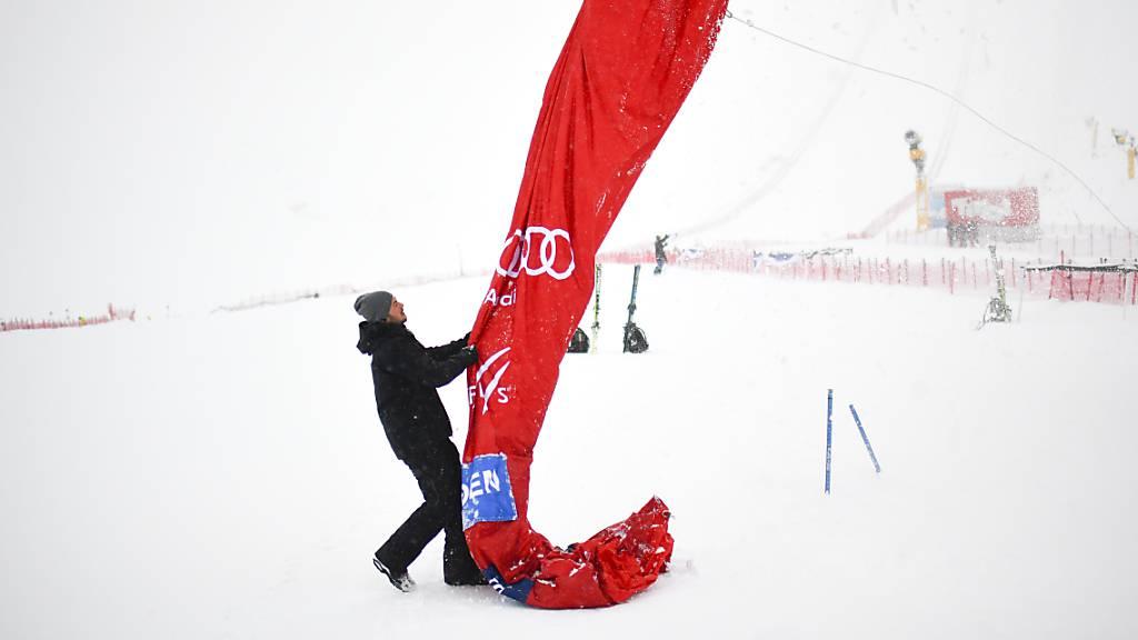 Herren-Slalom wegen böigem Wind abgesagt