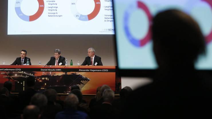 Kurt Ledermann (CFO), Daniel Hirschi (VRP), Alexander Hagemann (CEO)