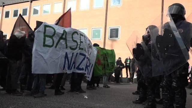 Basel: PNOS zieht sich vor Hunderten Gegendemonstranten zurück