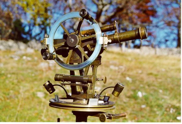 1903 wurden Messungen noch mit einem Thodoloit durchgeführt