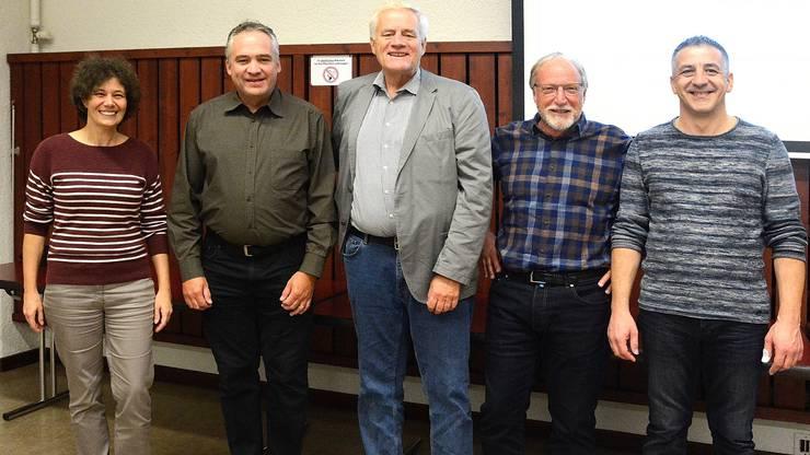 Die Umweltkommission Starrkirch-Wil mit (vl.)Thekla Müller-Schenker,Martin Sauser,Walter Steinmann (Referent) Martin Engel (Präsident UK Starrkirch) Marco Talerico