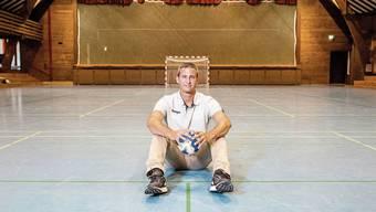 «Wir haben mit diesem Szenario gerechnet»: Christoph Blöchlinger, Präsident der STV-Handballer, in der leeren Sporthalle Aue.