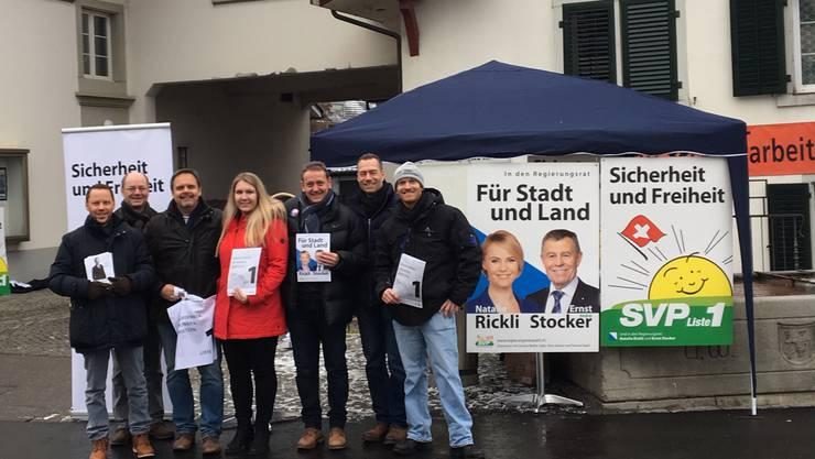 KR-Kandidierende: Stüssi, Bonato, Burtscher, Fischer, Bender, Lottenbach und Frei freuen sich auf Ihre Unterstützung.