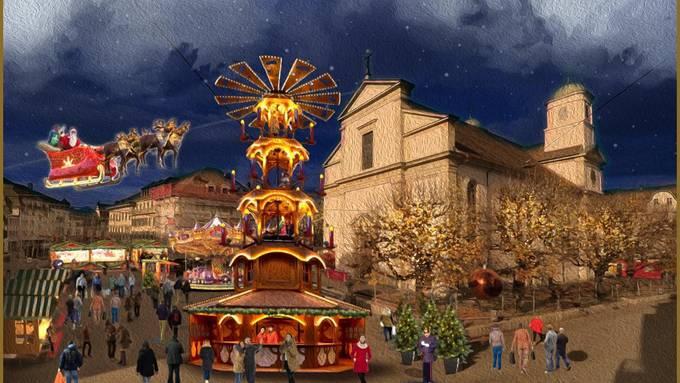 Adventsdorf Gewerbe OltenNoch sind die Attraktionen nur ins Bild montiert, aber im Dezember sollen sie in der Oltner Innenstadt wahr werden.