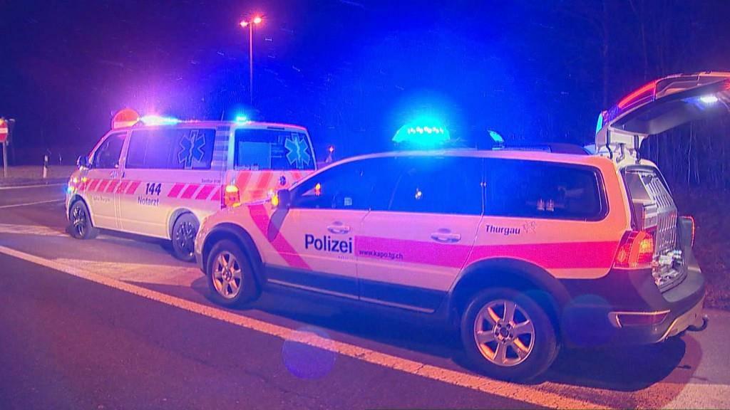 Die 66-jährige Autofahrerin war gegen 18.20 Uhr auf der Autobahn A7 in Richtung Konstanz unterwegs und verliess diese über die Ausfahrt Frauenfeld West. (© Beat Kälin)