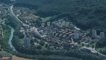 Gute Voraussetzungen für eine zusätzliche Haltestelle: Die Bahnlinie Baden–Turgi–Brugg führt mitten durch den Kappelerhof. stadt baden