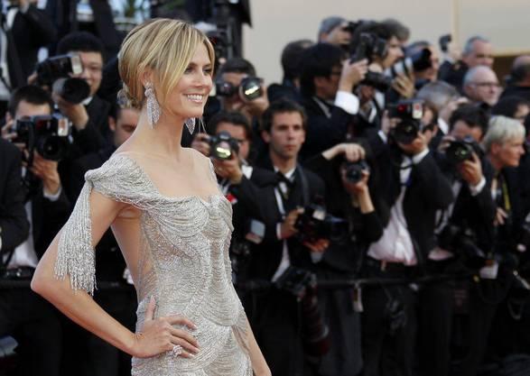 Frau Klum im Frühjahr in Cannes. Wie immer strahlend.