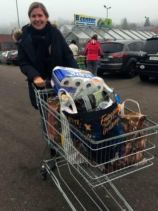 Marianne Reusser kauft ausnahmsweise im Laufenpark ein – weil sie ohnehin nach Deutschland musste, um ein Paket abzuholen