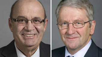 SVP-Nationalrat Christian Miesch und FDP-Nationalrat Walter Müller.JPG
