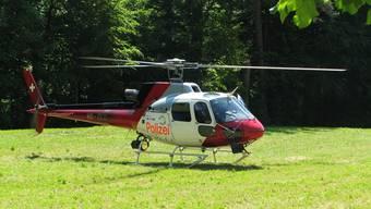 Ein Helikopter der Kantonspolizei Zürich stand in Brugg bei der Suchaktion im Einsatz. (Symbolbild)