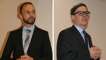 Kandidaten um den Gerichtspräsidenten-Sitz: Christian Fischbacher (SP) und Christian Bolleter (EVP)