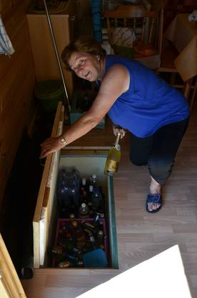10 Getränke für spontane Besucher oder auch Heidi Baumgartners Frauentreff sind immer vorhanden