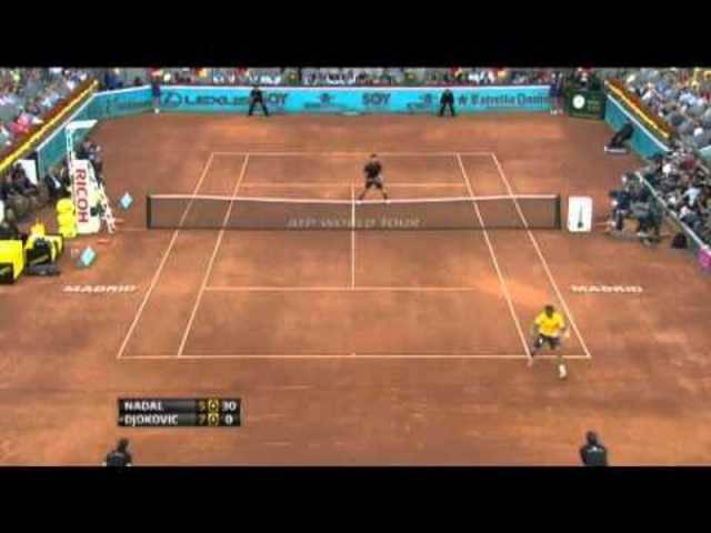 Rafael Nadals Tweener gegen Novak Djokovic in Madrid 2011