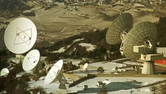 Satellitenstation ob Leuk im Wallis.