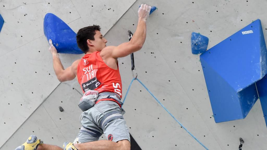 Sascha Lehmann gewinnt EM-Bronze im Lead.