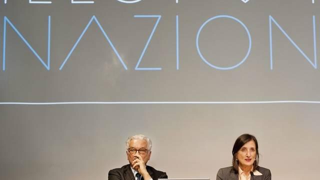 Bice Curiger (rechts) und Biennale-Präsident Paolo Baratta in Zürich