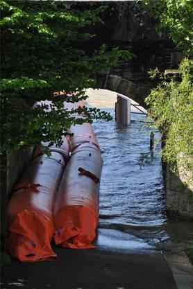 Ländiweg: Wasser in der Unterführung