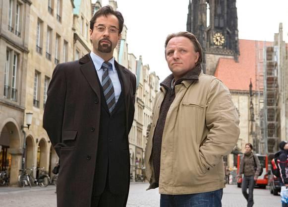 Seit Jahren die beliebtesten Kommissare der Reihe: Der narzisstische Gerichtsmediziner Professor Karl-Friedrich Boerne und sein vergammelter Kollege Frank Thiel aus Münster.