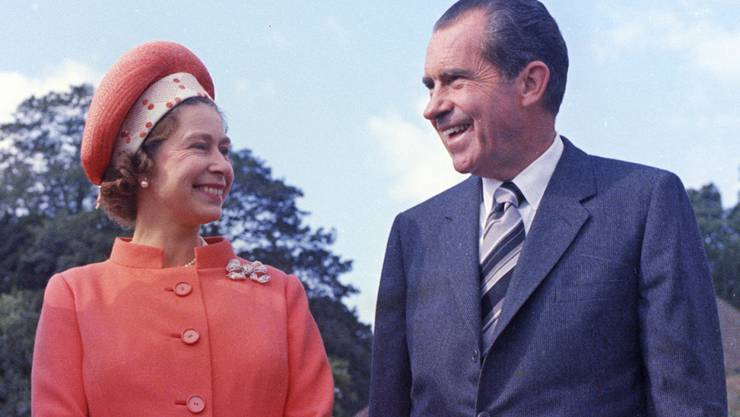 Die Queen hat schon viele Präsidenten der USA - wie etwa Richard Nixon 1970 - getroffen. (Archivbild)