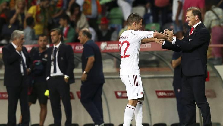 Abrashi von GC feiert seinen bisher grössten Erfolg mit der albanischen Nati. 0:1-Sieg in Portugal.