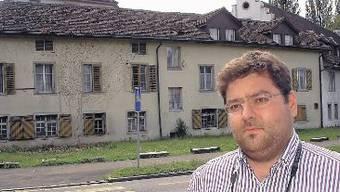Entwarnung: Denkmalpfleger Manuel Kehrli beim gestrigen Augenschein.