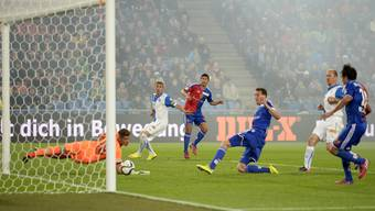 Davide Callà trifft für Basel zum 2:1.