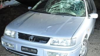 Mit diesem Auto wurde der 25-jährige Jogger angefahren. kapo