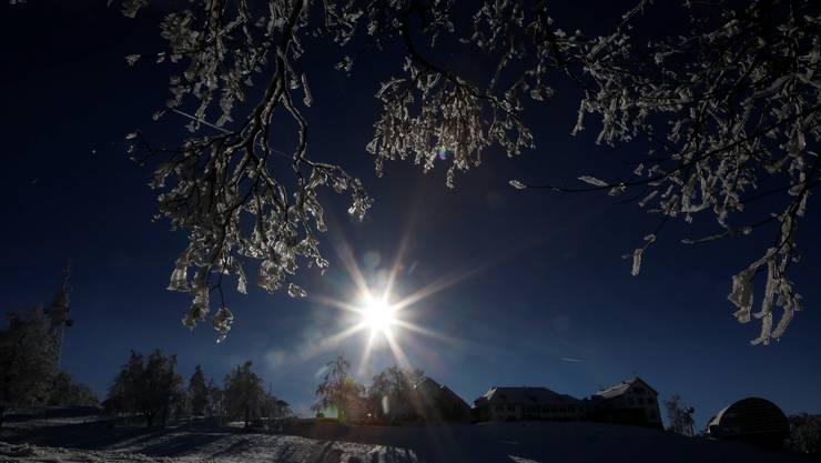 Die Sonne schien am Freitagmorgen