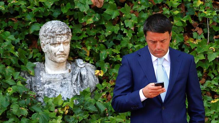 Matteo Renzi ist, wie einst Silvio Berlusconi, eine One-Man-Show. Remo Casilli/ Reuters