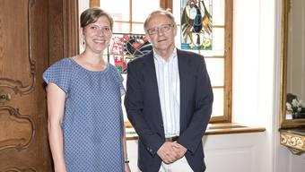 Präsidentin des Bürgerrates Fabienne Beyerle (l.) und Statthalter Lucas Gerig.