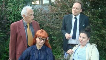 Sie bestreiten das Gros der Dialoge (v. l.): Rudolf Fischer, Zora Drieghe, David Gnägi und Samira Oulouda.