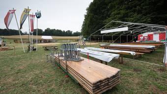 Der Engelberg-Schwinget 2017 musste wegen Unwetter verschoben werden