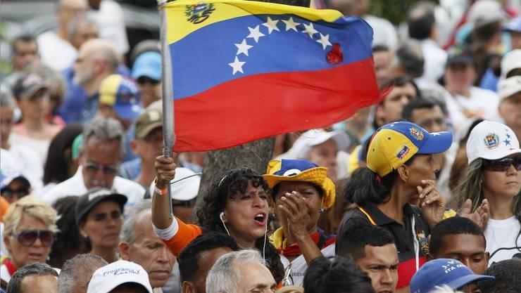 Eine Veranstaltung der venezolanischen Opposition in Caracas.