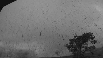 Aufnahme der Ascheniederschlags des Vulkans Kilauea