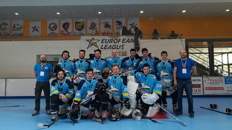Die 1. Mannschaft des HC Laupersdorf am Europacup.