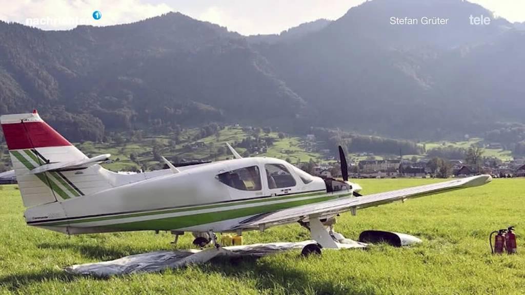Notlandung eines Kleinflugzeugs