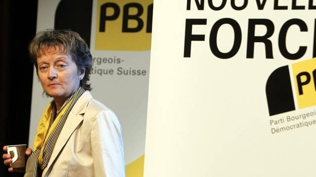 Bundesrätin Eveline Widmer-Schlumpf bangt um ihren Sitz in der Landesregierung