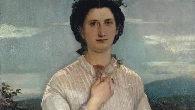 So sieht Liebe aus: Marie Elisabeth Brüstlein, gemalt von ihrem Lehrer Ernst Stückelberg.