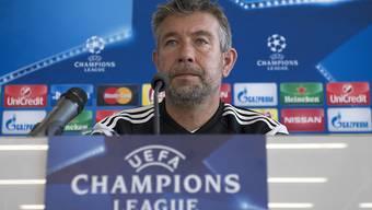 """FCB-Trainer Urs Fischer zur Auslosung: """"Mit Arsenal und PSG bekommen wir zwei Gegner, gegen die der FCB noch nie gespielt hat – das ist auch für unsere Fans ein Super-Los."""""""