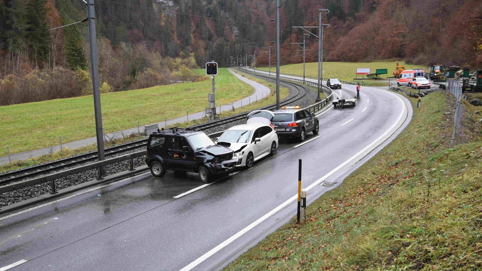 Beim Unfall in Fideris wurde eine Autofahrerin verletzt.