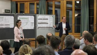 Projektvorstellung in Arch am 13. 3. 2019 mit Gemeindepräsidentin Barbara Eggimann und Architekt Etienne Bornand (Bern).
