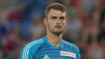 Basel's goalkeeper Martin Hansen during the UEFA Europa League play-off first leg match between Switzerland's FC Basel 1893 and Cyprus' Apollon Limassol FC in the St. Jakob-Park stadium in Basel, Switzerland, on Thursday, August 23, 2018. (KEYSTONE/Georgios Kefalas)