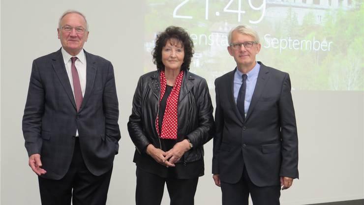 Dieter Conen, Präsident der Stiftung Patientensicherheit Schweiz, Bea Heim, SP-Nationalrätin und Gesundheitspolitikerin, sowie Markus Zuber, Chefarzt Chirurgie am Kantonsspital Olten (KSO).