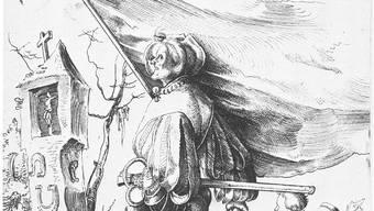 Jahrhundertelange Tradition: Kupferstich «Söldnerfähnrich», nach einem Werk des Solothurner Zeichner Urs Graf von 1516.