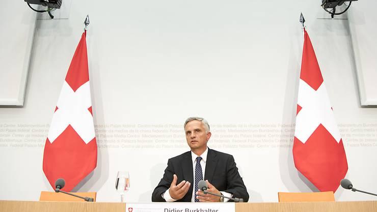 Bundesrat Didier Burkhalter machte an seiner Abschieds-Medienkonferenz deutlich, dass die Europapolitik nicht in die von ihm gewünschte Richtung entwickeln dürfte.